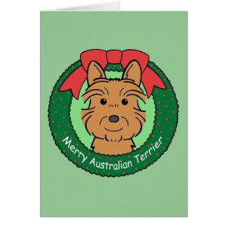 Australian Terrier Christmas Greeting Card