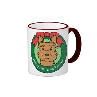Australian Terrier Christmas Ringer Mug