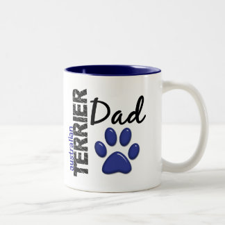 Australian Terrier Dad 2 Two-Tone Coffee Mug
