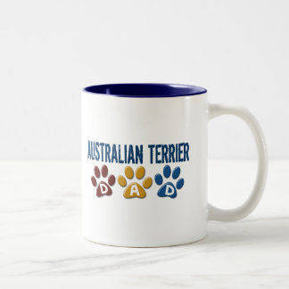 AUSTRALIAN TERRIER DAD Paw Print Two-Tone Mug