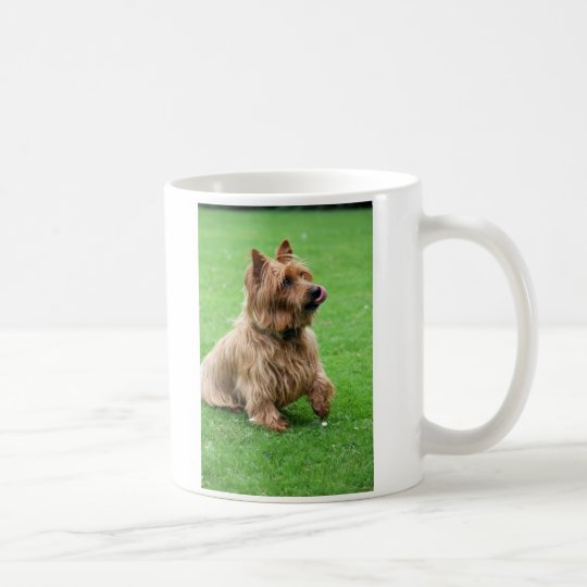 Australian Terrier dog I love heart mug, gift