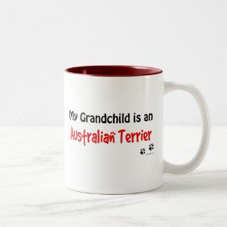 Australian Terrier Grandchild Two-Tone Coffee Mug