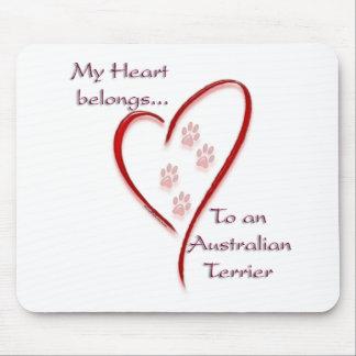 Australian Terrier Heart Belongs Mouse Pad