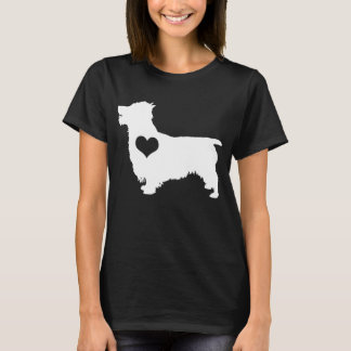 Australian Terrier Heart Dark T-Shirt