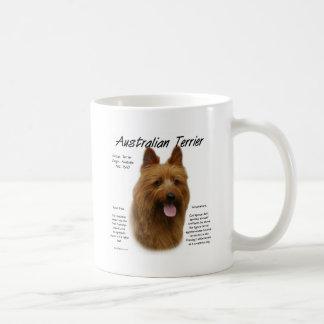 Australian Terrier History Design Basic White Mug