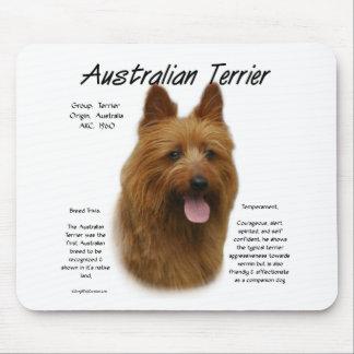 Australian Terrier History Design Mouse Pad
