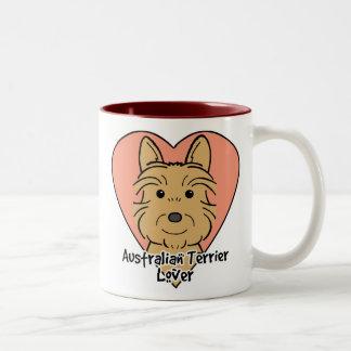 Australian Terrier Lover Two-Tone Coffee Mug