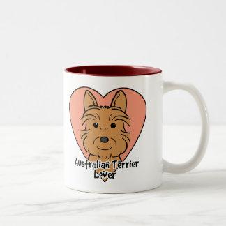 Australian Terrier Lover Two-Tone Mug