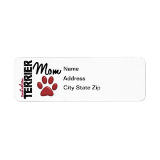 Australian Terrier Mom 2 Return Address Label