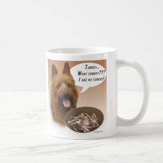 Australian Terrier Turkey Basic White Mug