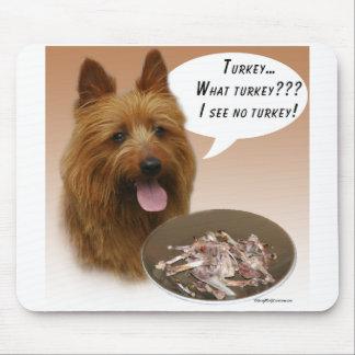 Australian Terrier Turkey Mouse Pad