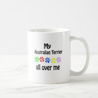Australian Terrier Walks Design Coffee Mug