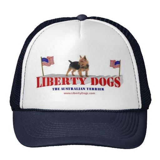 Australian Terrier with Flags Trucker Hat