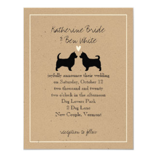 Australian Terriers with Long Tails Wedding Card