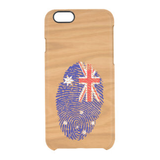 Australian touch fingerprint flag clear iPhone 6/6S case