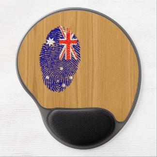 Australian touch fingerprint flag gel mouse mat