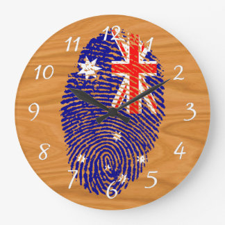 Australian touch fingerprint flag large clock