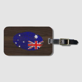 Australian touch fingerprint flag luggage tag
