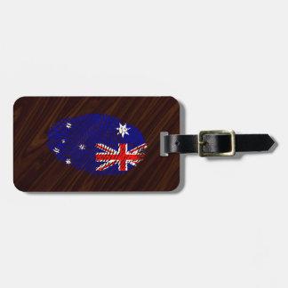 Australian touch fingerprint flag luggage tag