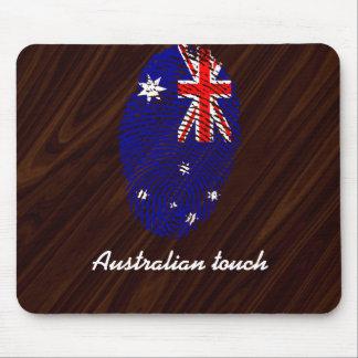 Australian touch fingerprint flag mouse mat