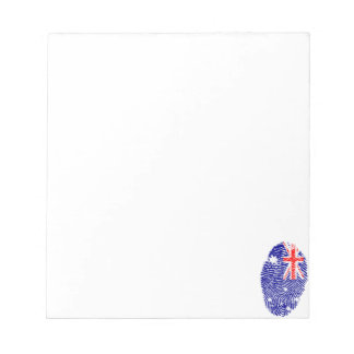 Australian touch fingerprint flag notepad