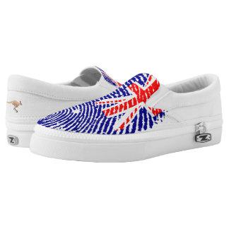 Australian touch fingerprint flag Slip-On shoes