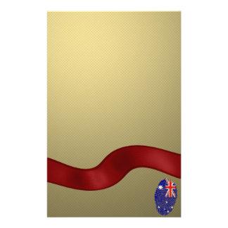 Australian touch fingerprint flag stationery