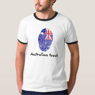 Australian touch fingerprint flag T-Shirt