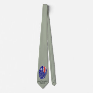 Australian touch fingerprint flag tie