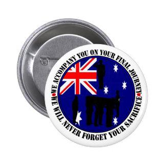 Australian traps Heroes Funeral Button