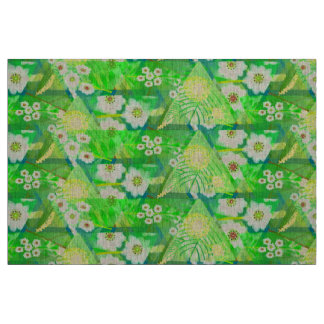 Australian wattle and heath myrtle. Spring floral. Fabric