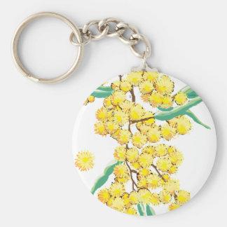 Australian wattle key ring