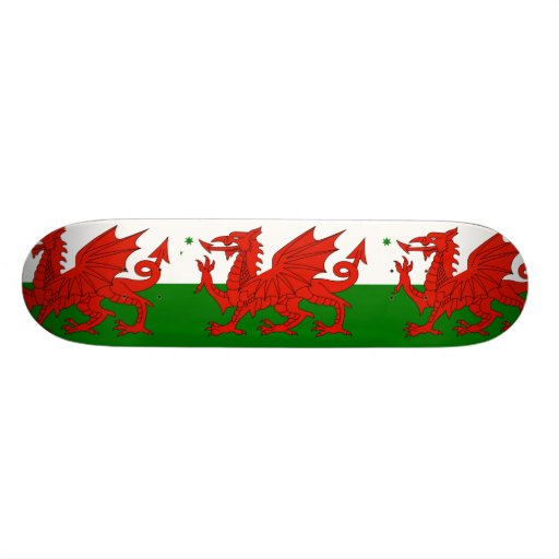 Australian Welsh Heritage, Australia flag Skate Deck