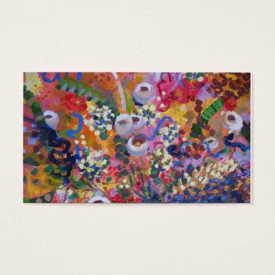 Australian wildflower art business card