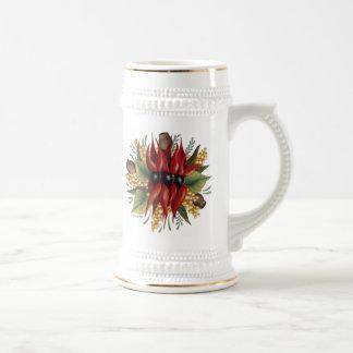 Australian Wildflowers - Sturt Desert Pea Beer Stein