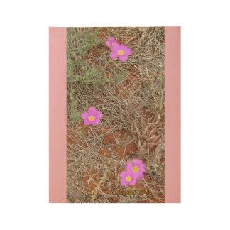 Australian Wildflowers Wood Poster