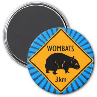 Australian Wombats Sign 7.5 Cm Round Magnet