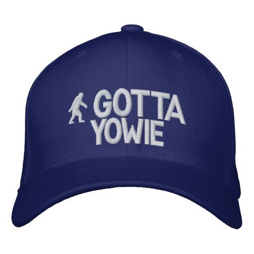 Australian Yowie Bigfoot Embroidered Baseball Caps