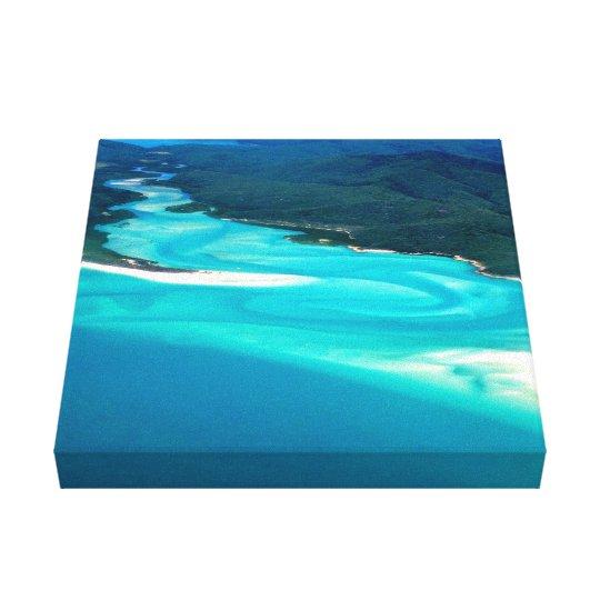 Australia's Whitehaven Beach Hill Inlet Canvas Print