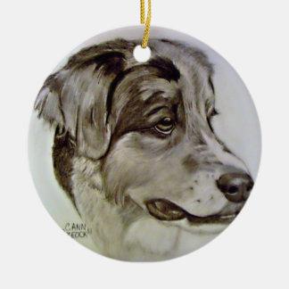 Australlian Shepherd ornament Original Artwork
