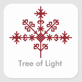 Austras koks, Latvian tree of light in folklore Square Stickers