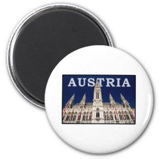 Austria 6 Cm Round Magnet