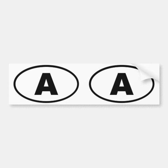 Austria - A - European oval Bumper Sticker