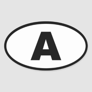 Austria - A - European Oval Sticker