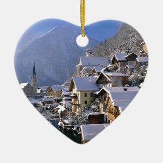 Austria Alpes Ceramic Heart Decoration