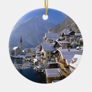 Austria Alpes Round Ceramic Decoration
