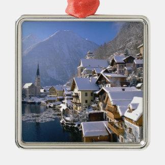 Austria Alpes Silver-Colored Square Decoration
