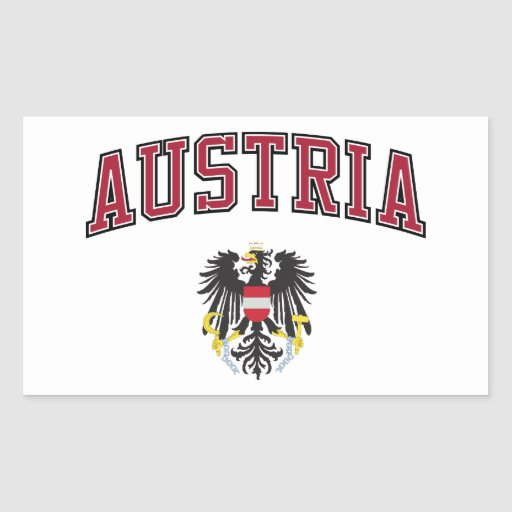 Austria and Coat of Arms Sticker