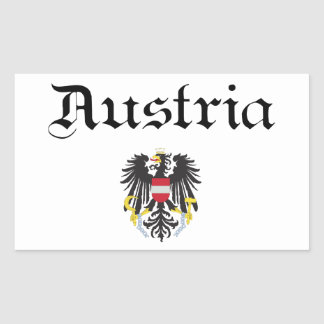 Austria and Coat of Arms Rectangle Sticker