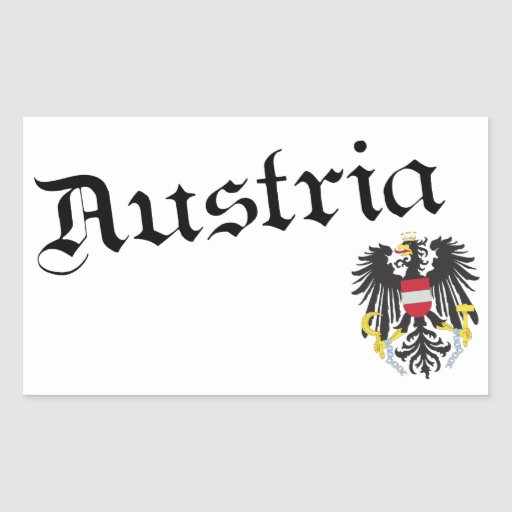Austria and Coat of Arms Rectangular Sticker
